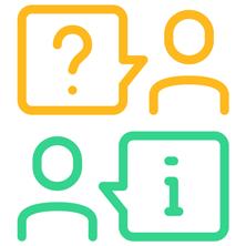 Icono Preguntas Frecuentes FAQ, sobre el Curso de Manipulador de Alimentos con Carnet y Certificado