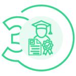 Icono Paso 3, Obtener el Carnet y Certificado del Curso Manipulador de Alimentos