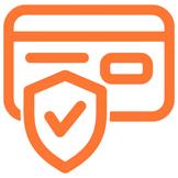 Icono Pago seguro, con tarjeta, transferencia o bizum del Carnet y Certificado en cualquier ubicación de España, del Curso de Manipulador de Alimentos