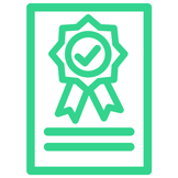 icono Formación Oficial para obtener el Certificado y Carnet del Curso de Manipulador de Alimentos online